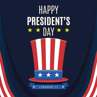 Saudação colorida do dia do presidente