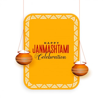 Saudação de celebração festival hindu janmashtami