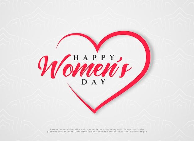 Saudação de corações de dia feliz feminino
