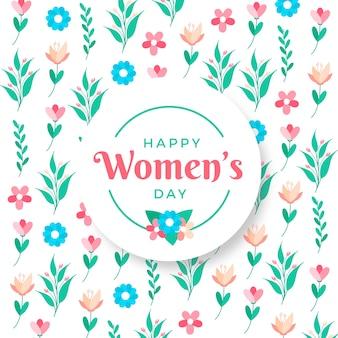 Saudação de dia das mulheres floral colorido