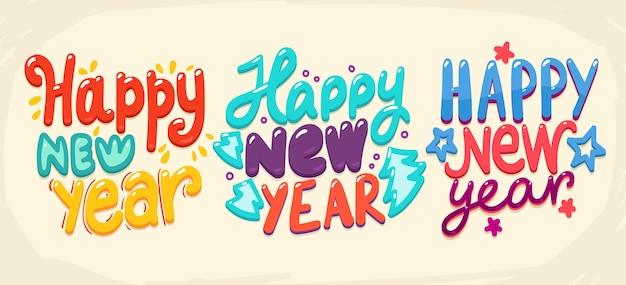 Saudação de feliz ano novo