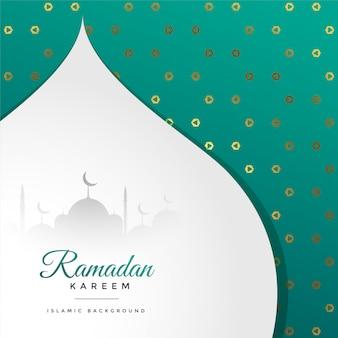 Saudação de festival lindo ramadan kareem