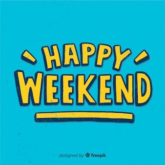 Saudação de fim de semana de efeito de quadro-negro