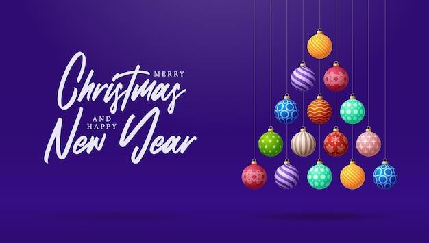 Saudação de natal e ano novo