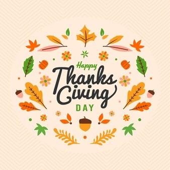 Saudação do dia de ação de graças