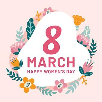 Saudação do dia internacional da mulher