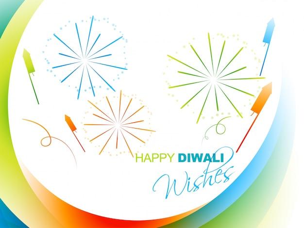 Saudação elegante de diwali