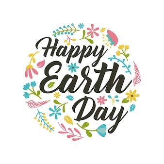 Saudação feliz de earthday