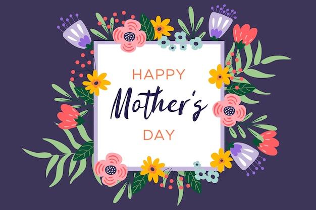 Saudação floral do dia das mães