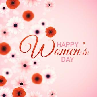 Saudação floral feliz dia da mulher