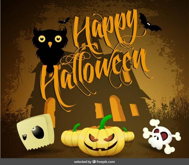 Saudação happy halloween