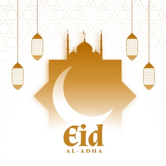 Saudação islâmica do festival eid al adha bakrid