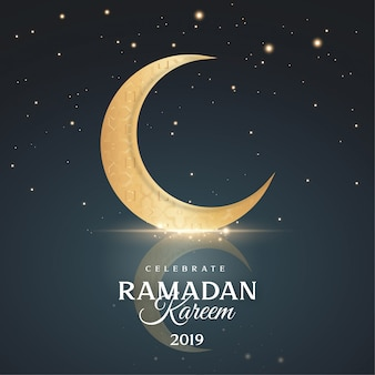Saudação ramadan kareem fundo