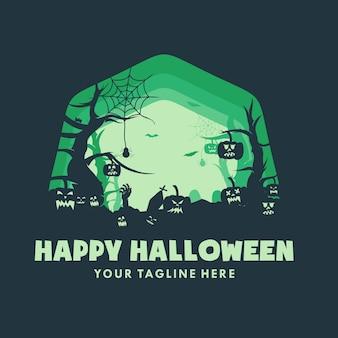 Saudação temática de feliz dia das bruxas