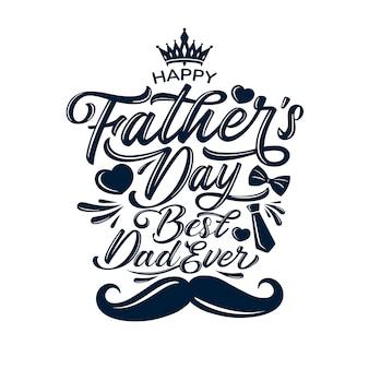 Saudações de comemoração do dia do pai feliz.