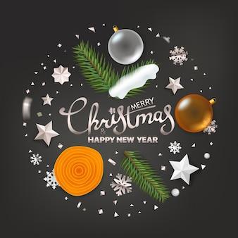 Saudações de feliz natal e feliz ano novo