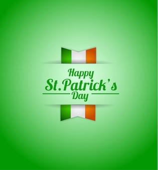 Saudações de texto com a bandeira da irlanda
