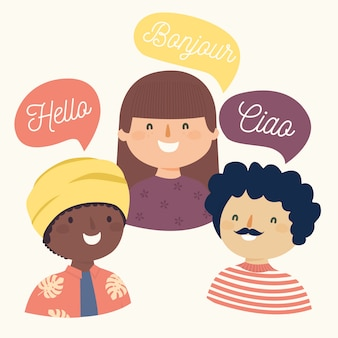Saudações em diferentes idiomas