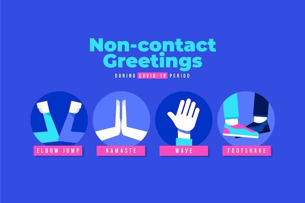 Saudações sem contato covid-19