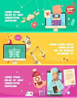 Saúde digital, equipamento de laboratório, receita e consulta on-line