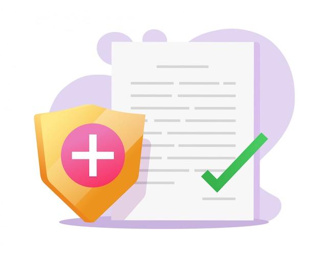 Saúde seguro médico documento forma papel