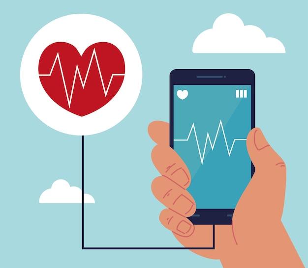 Saúde vestível em smartphone
