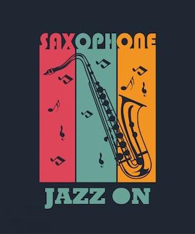 Saxofone para o projeto da camisa de t
