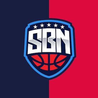 Sbn esport e emblema do logotipo esportivo