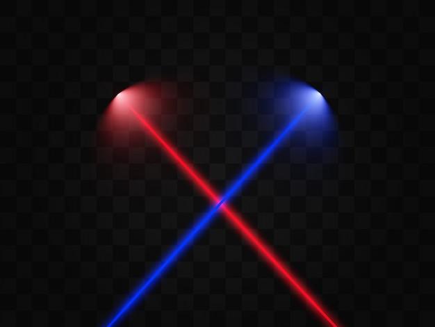Scanner a laser. raios laser lindos brilhantes sobre um fundo transparente.