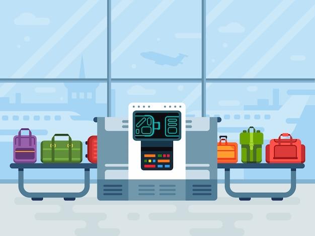 Scanner de bagagem para aeroporto