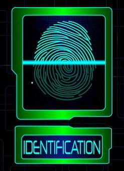Scanner de impressão digital, sistema de identificação