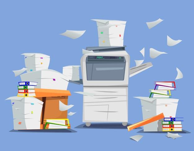 Scanner de impressora multifuncional de escritório.