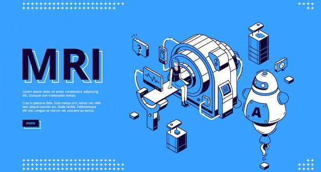 Scanner mri com web design para paciente e médico