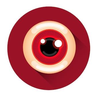 Scary zombie eye ícone de férias do dia das bruxas