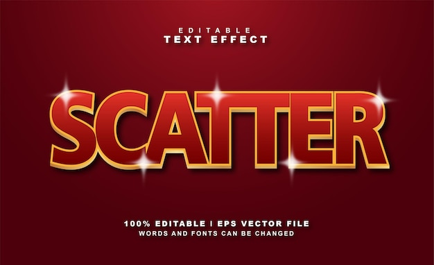 Scatter text effect vector free