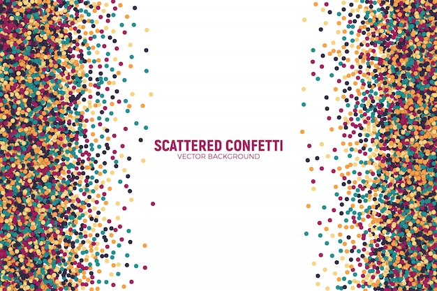 Scattered motley confetti background
