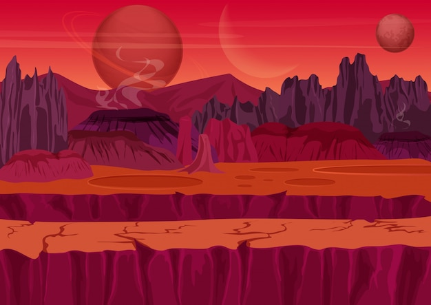Sci-fi alien jogo paisagem