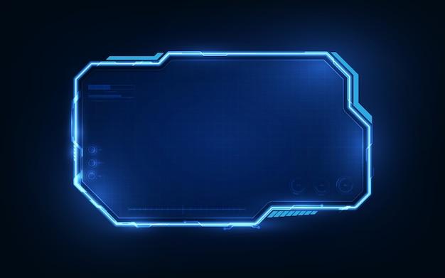 Sci fi frame fundo cibernético