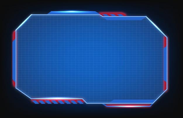 Sci fi hud moderna tecnologia de interface de usuário futurista