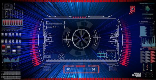 Sci fi visor de interface futurista.