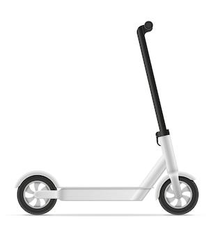 Scooter de chute para a ilustração da condução na cidade e do prazer do jogo isolada no branco