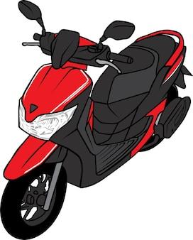 Scooter motocicletatop view cartoon