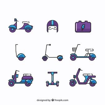 Scooters elétricos com estilo original