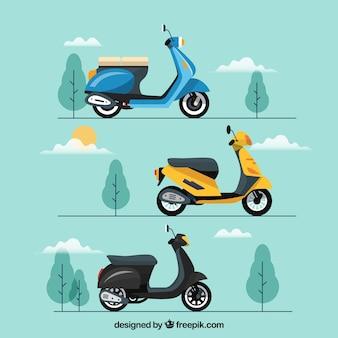 Scooters urbanos com estilo moderno