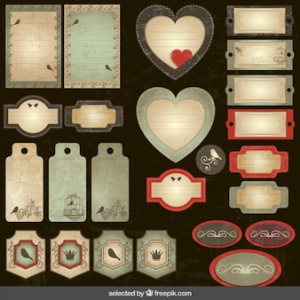 Scrapbooking coleção vintage