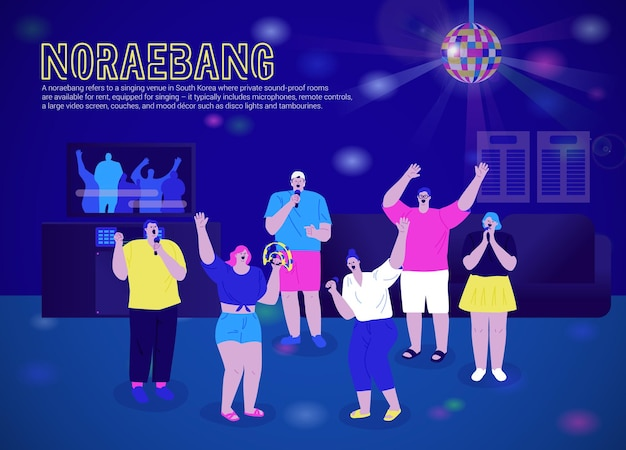 Se divertindo no noraebang karaokê coreano