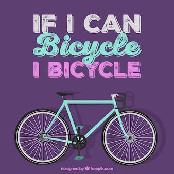 Se eu puder bicicleta, eu bicicleta