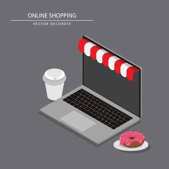 Se você quiser comprar produtos ou fazer compras, pode sentar e tomar chá com as compras imediatamente