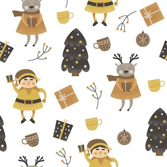 Seamles pattern natal