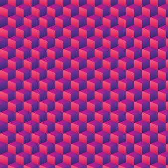 Seamless abstract 3d geometric box pattern background